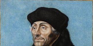 Atelier de Lucas Cranach l'Ancien 1472 Kronach -1553 Weimar « Portrait d'Erasme » signé 1533