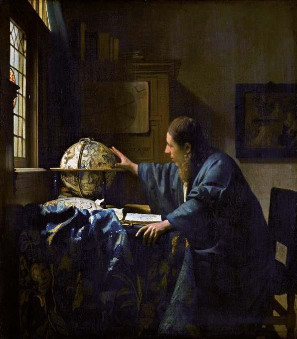 L'Astronome, 1668 Huile sur toile, 51,5 x 45,5 cm Musée du Louvre, Paris Département des Peintures © RMN-Grand Palais (musée du Louvre) / Franck Raux