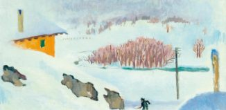 GIACOMETTI, GIOVANNI (Stampa 1868 - 1933 Glion) Inverno. 1932. Oil on canvas.