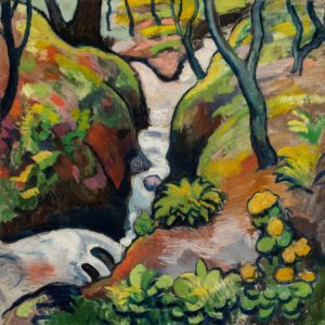 August Macke Torrent de forêt 1910 Huile sur toile, 61,6 × 61,3 Bloomington, Eskenazi Museum of Art, Indiana University, don partiel de la Robert Gore Rifkind Collection, EMA 78.67