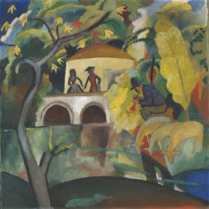 August Macke Rococo, 1912 Huile sur toile, 89 × 89 cm Oslo, The Savings Bank Foundation DNB, en prêt au National Museum, Oslo © Børre Høstland, Nasjonalmuseet