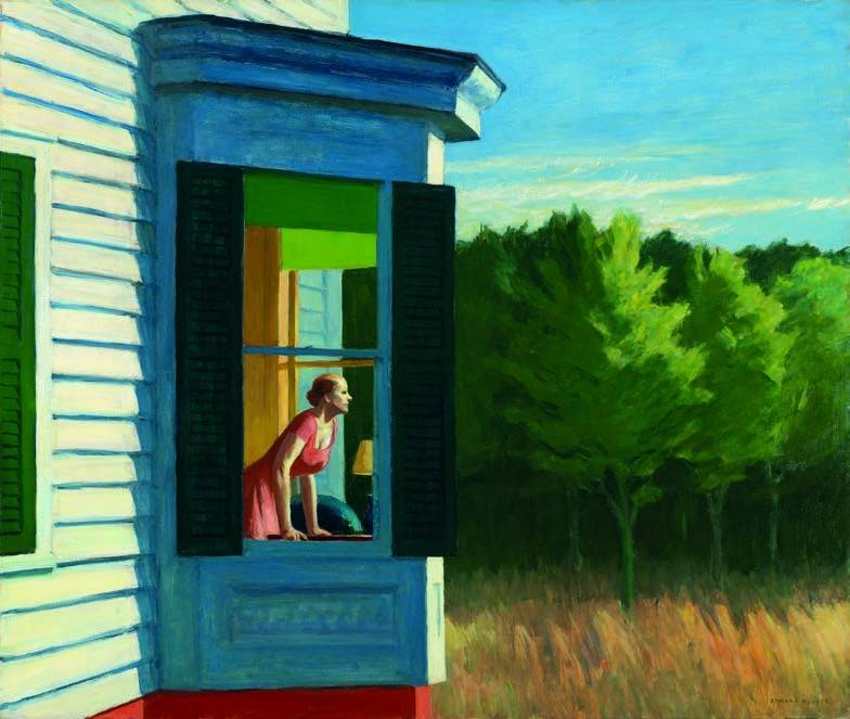 Cape Cod Morning, 1950 Huile sur toile, 86,7 x 102,3 cm Smithsonian American Art Museum, Gift of the Sara Roby Foundation © Heirs of Josephine Hopper / 2019, ProLitteris, Zurich. Photo : Smithsonian American Art Museum, Gene Young