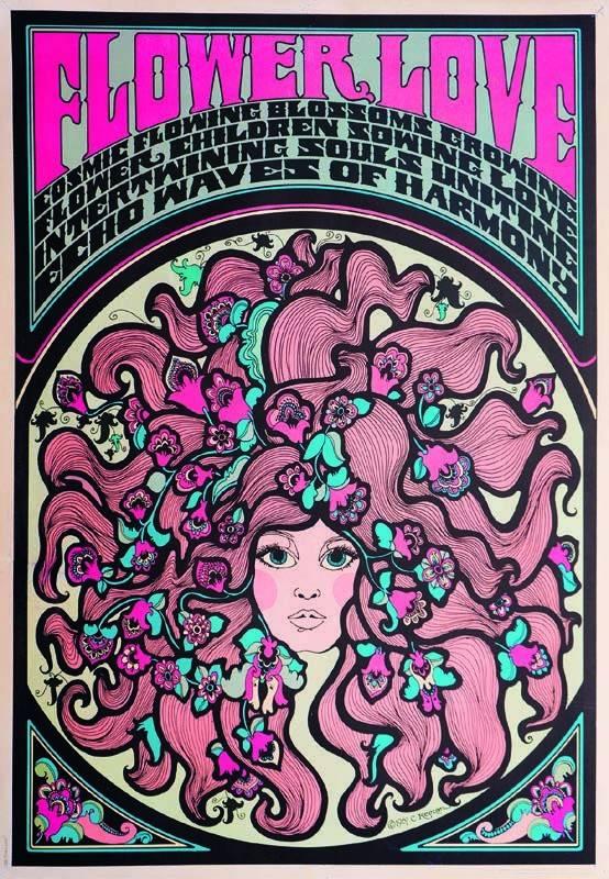 Connie Keelan Flower Love, 1967 Impression offset en couleur, 85 x 64 cm Collection particulière
