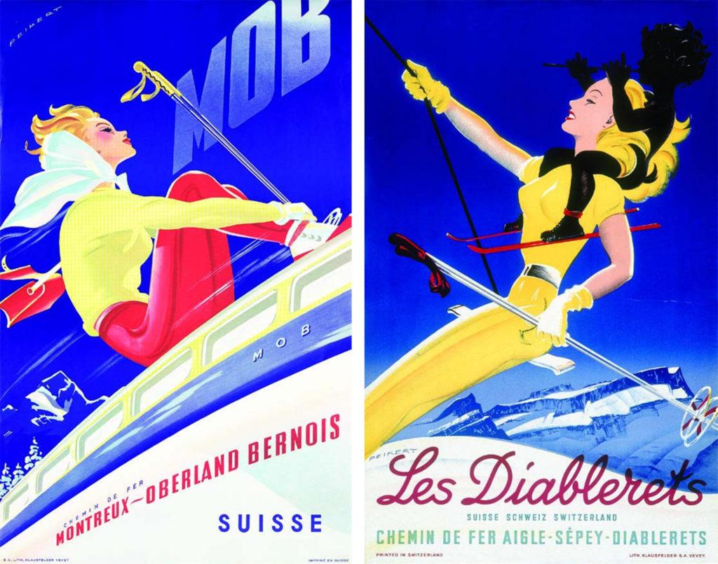 Montreux-Oberland, 1946 Diablerets, 1948