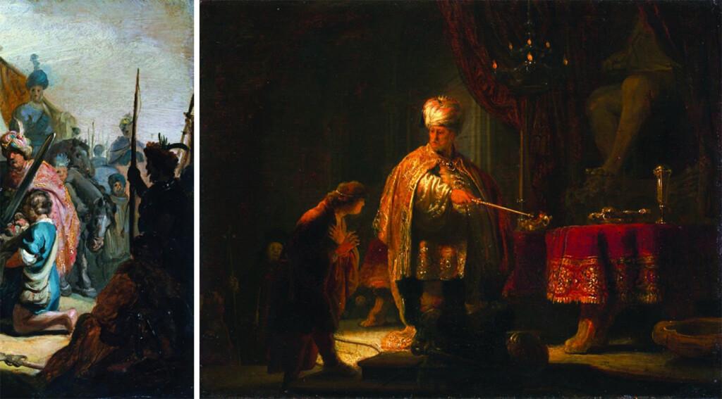 Rembrandt Harmensz van Rijn Daniel et Cyrus devant l'idole de Bel, 1633 Huile sur bois, 23,5 x 30,2 cm The J.Paul Getty Museum, Los Angeles